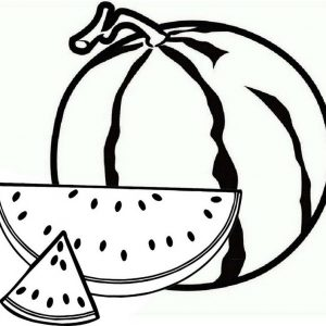 Delicious Yellow Watermelon Coloring Page