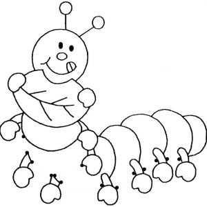 Fancy Hungry Caterpillar Cartoon Connect the Dots