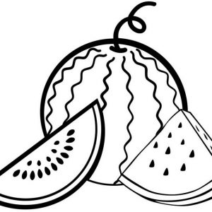 Fresh Watermelon Coloring Page
