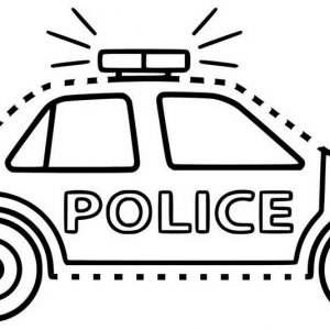 Police Car Connect the Dots
