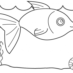 Wonderful Fish Undersea Coloring Page for Free