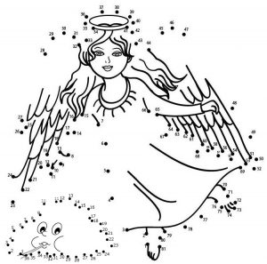 christmas angel connect the dots