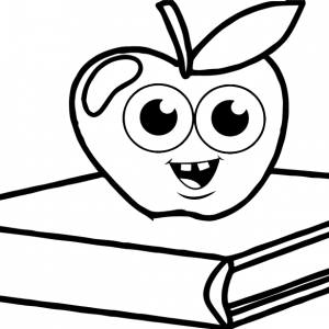 Apple Above book Coloring Page