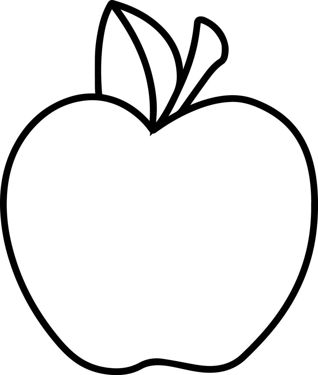 Fresh Apple Coloring Page - Mitraland