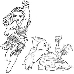 9 Magnificent Moana Coloring Pages for Your Daughter ...