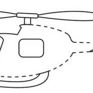 Simple Helicopter Connect The Dots