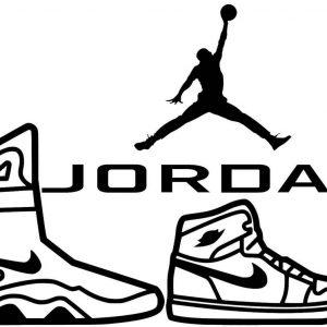 Air Jordan Nike Lineart Drawing from Jordan Brand