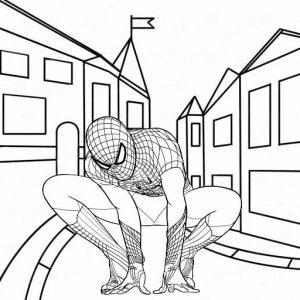 Book Indhie Spiderman Coloring Page for Boys