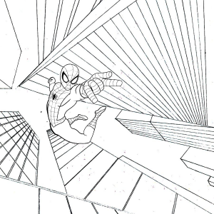Brave Spiderman coloring page from Bedu