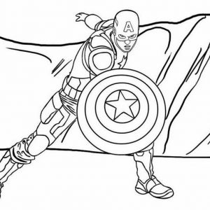 Captain America Avengers Coloring Page from Cacha
