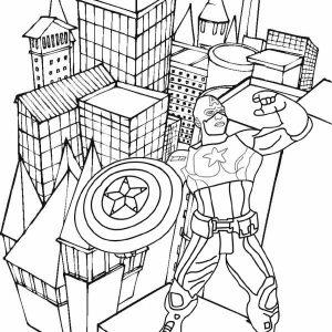 Captain America Avengers Endgame Coloring Idea from Endang