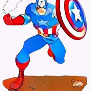 Captain America Coloring Work from Bedu