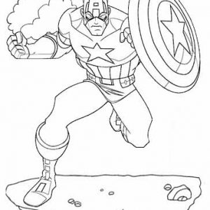 Captain America Marvel Disney Coloring Sheet from Deby