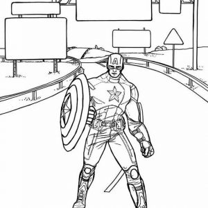 Captain America Winter Soldier Coloring Sheet from Wendy