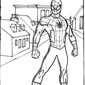 Cool Spiderman Coloring Sheet from Cacha