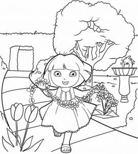 Dora Dance to the Rescue Coloring Sheet