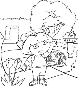 Dora Nick Jr Coloring Page of Dora the Explorer for Kids