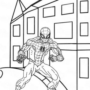 Happy and Fun Spiderman Coloring Sheet for Gifts