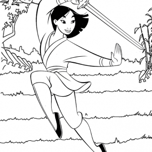 Heroic Fa Mulan Coloring Page from Hesti