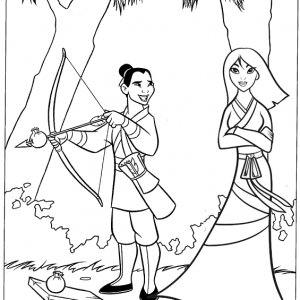 Li Shang and Mulan Coloring Disney Sheet from Lusi