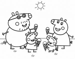 Mummy Pig and Daddy Pig Coloring Page of Peppa Pig