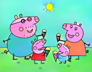 Peppa Pig Coloring Work from Panji