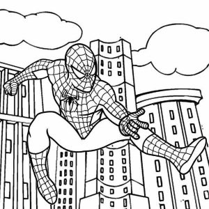Spiderman Idol for Kids Coloring Sheet from Irvan