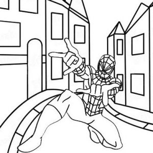 Super Spiderman Coloring Page from Anne