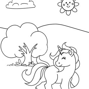 The Little Unicorn Sheri Fink Coloring Page