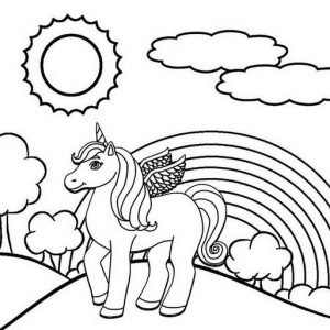 Unicorn Coloring Craft for Boys and Girls