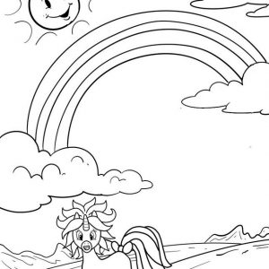 Unicorn Running Coloring Project from Panji