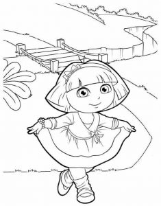 best dora and friends into the city coloring sheet