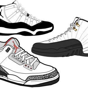 choosing jumpman air jordan shoe nike air max sneakers nike line art