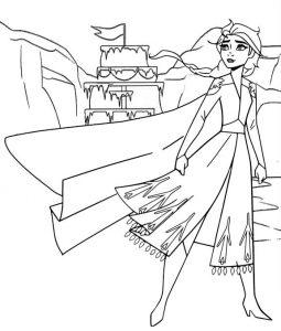 Anna Frozen Coloring Sheet Disney