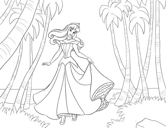 Aurora Disney Coloring Page For Girls Mitraland