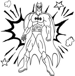 Batman Comic Book Coloring Page