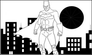 Batman Vector Coloring Page