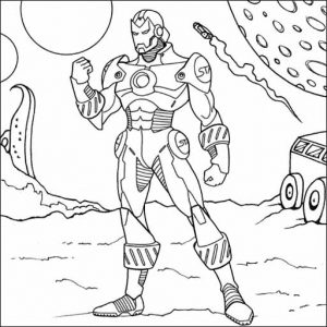 Best Iron Man Robot Coloring Sheet