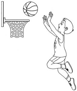 Best Professional Basketball Coloring Page for Kids