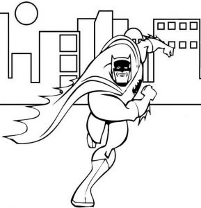 Brave Batman Coloring Superhero Page