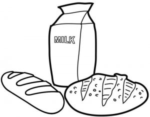 Bread Coloring Page of Food