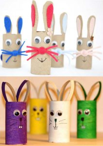 Bunny Toilet Paper Roll Craft