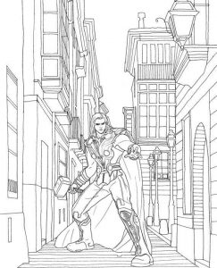 Captain Marvel Thor Coloring Page for Boy