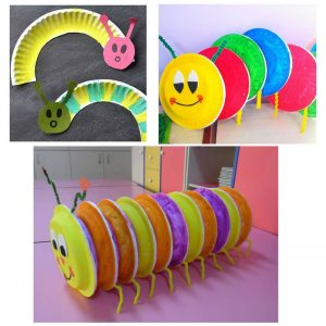Caterpillar Paper Plate Craft