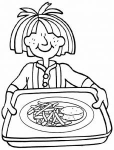 Chips Coloring Page of Food