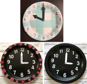 Clock Paper Plate Ideas