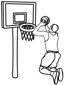 Cool Basketball Coloring Page