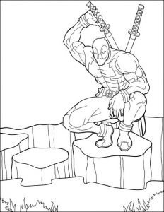 Deadpool Marvel Comics Coloring Page