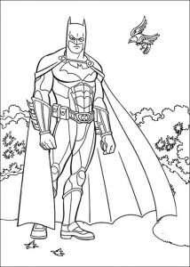 Elegant Batmanl Coloring Page for Boys