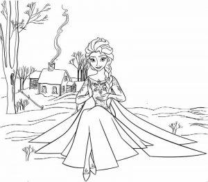 Elsa Frozen 2 Coloring Sheet